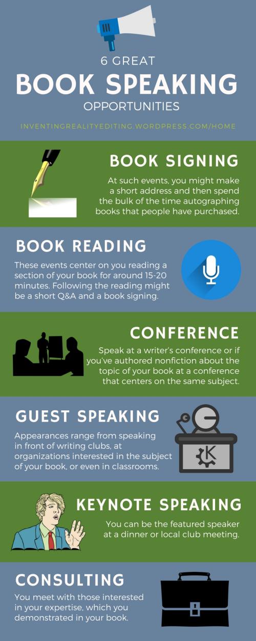 Book Speaking opportunities