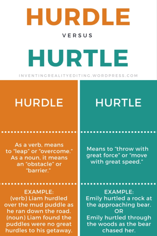 Hurdle vs. Hurtle