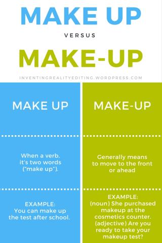 Make up vs. Make-up