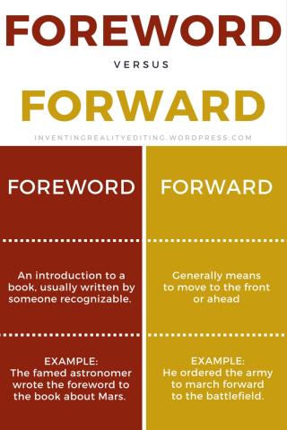Foreword vs. Forward