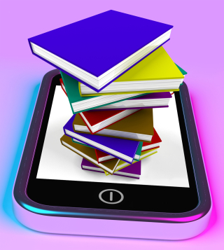 Kozzi-965793-mobile_phone_with_books_stack_shows_online_knowledge-1371x1530