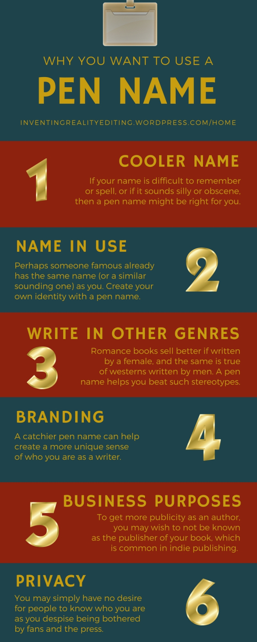 Why use a Pen Name