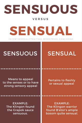 Sensuous vs. sensual
